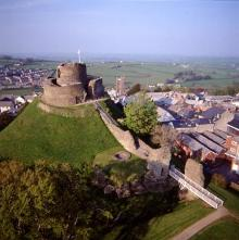 Launceston Castle. Click for the history